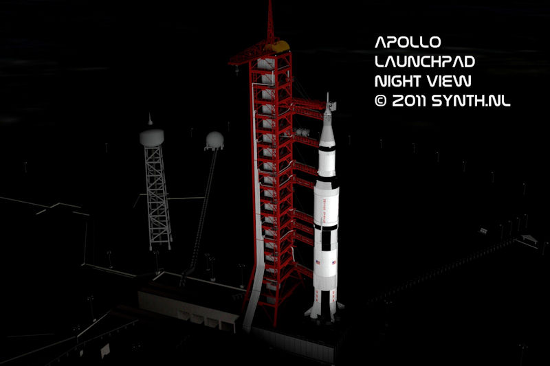 Apollo Launch Pad Night View